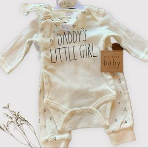 Rae Dunn Baby Outfit with Headband Daddy's Girl